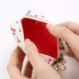 Detail of Monopoly Cherish every moment small PU zipper pouch case