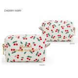 Cherry Ivory - Monopoly Cherish every moment small PU zipper pouch case