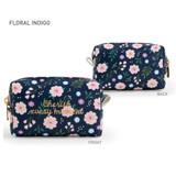 Floral Indigo - Monopoly Cherish every moment small PU zipper pouch case