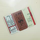 A - UNIVERSAL CONDITION Vintage ticket magnet bookmark set