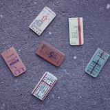 Usage example - UNIVERSAL CONDITION Vintage ticket magnet bookmark set