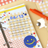 Usage example - Wanna This Picnic 6mm check 4 designs memo notepad