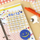 Usage example - Wanna This Picnic 6mm check 4 designs memo notepad