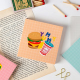 Usage example - Wanna This Palette 6mm grid 4 designs memo notepad