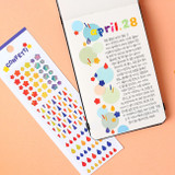 Usage example - Wanna This Confetti aurora pearl mini deco sticker 01