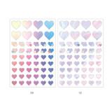 09, 10 - PLEPLE Love in Life paper deco sticker 2 sheets