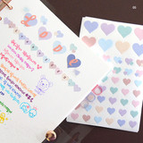 05 - PLEPLE Love in Life paper deco sticker 2 sheets
