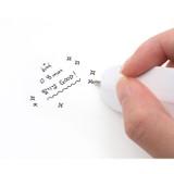 0.8 mm black ink tip - Bookfriends World literature 0.8mm slim bookmark pen
