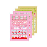 4 sheets - DESIGN GOMGOM Cute masking deco sticker seal