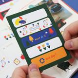 Day to Day - DESIGN GOMGOM Cute masking deco sticker seal
