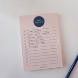 Checklist - Today's things to do large memo checklist planner notepad