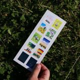 DESIGN GOMGOM Post stamp adhesive sticker sheet