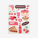 Cherry removable paper deco sticker
