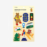 Package of Bear's journey removable paper deco sticker