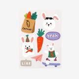 Dailylike Rabbit's day removable paper deco sticker
