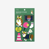 Package of Dailylike Welsh corgi removable paper deco sticker