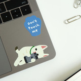 Usage example - Dailylike Lazy cats removable paper deco sticker