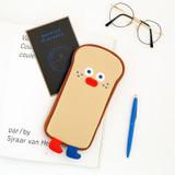 ROMANE Run toast cotton zipper pencil case