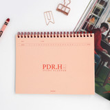 Pink - Signature PDR.H spiral bound dateless daily study planner