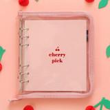 Cherry pick zipper closure 6-ring dateless weekly planner