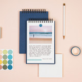 Usage example - Ardium Color medium spiral bound lined notepad