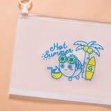 Hot Summer - DESIGN IVY Ggo deung o clear zip lock pouch