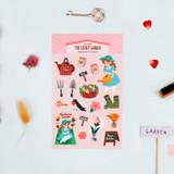 The secret garden - Bookfriends My home removable deco sticker