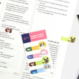 Usage example - Bookfriends Double point index sticky bookmark set