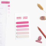 Pink - Bookfriends Colorchip double point index sticky bookmark