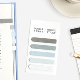 Gray - Bookfriends Colorchip double point index sticky bookmark