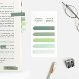 Green - Bookfriends Colorchip double point index sticky bookmark