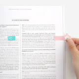Usage example - Bookfriends Like it double point index sticky bookmark