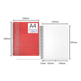 Size - 2young Elite Mathematics half perforated line blank notebook