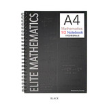 Black - 2young Elite Mathematics half perforated line blank notebook