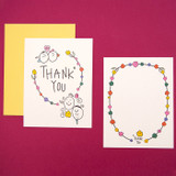 Thank you white - Ardium Thank you color postcard