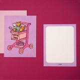 Flower cart - Ardium Thank you color postcard