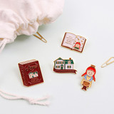 Bookfriends Anne of Green Gables metal pin badges