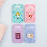 Bookfriends Alice in Wonderland metal pin badge