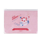 Detail of After The Rain Silver line deco sticker set with pouch