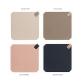 Color - loiloi PU coated cow leather two-way mouse pad