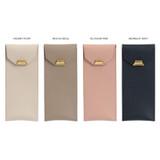Color - loiloi PU coated cow leather flat pencil case