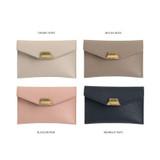 Color - loiloi PU coated cow leather card pocket case