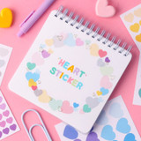 Usage example - Wanna This Heart small deco sticker set of 3 sheets