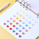 Usage example - Wanna This Heart medium deco sticker set of 3 sheets