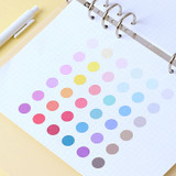Usage example - Wanna This Round 13 mm deco sticker set of 3 sheets