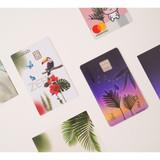 Usage example - Appree Tropical night nature scene sticker set