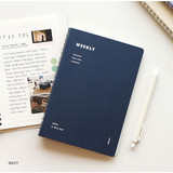 Navy - Indigo Have a nice day 6 months dateless weekly planner