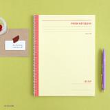 Yellow - Indigo Prism 56 spiral bound B5 lined notebook