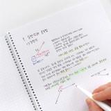 Usage example - Indigo Prism 56 spiral bound B5 grid notebook