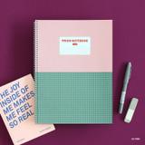 Pink - Indigo Prism 56 spiral bound B5 grid notebook